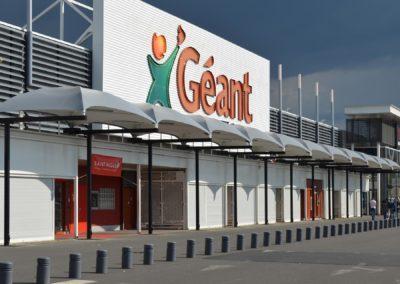 Texabri, abri en toile tendue, Géant Casino de Clermont-Ferrand