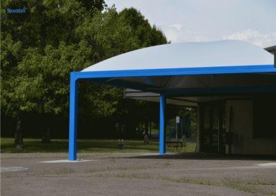Préau d'école, école primaire de Thonon les Bains