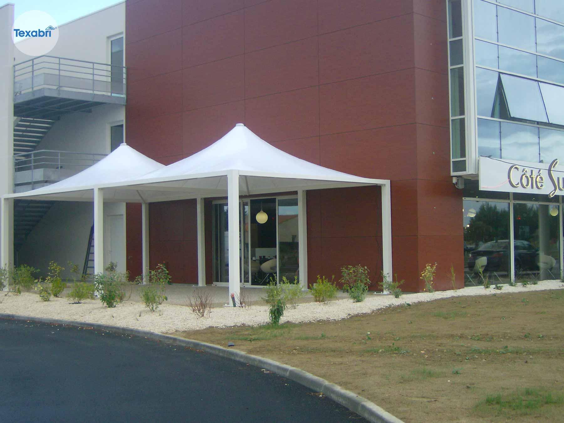 auvent pour terrasse – fabricant d'abri en toile tendue – texabri