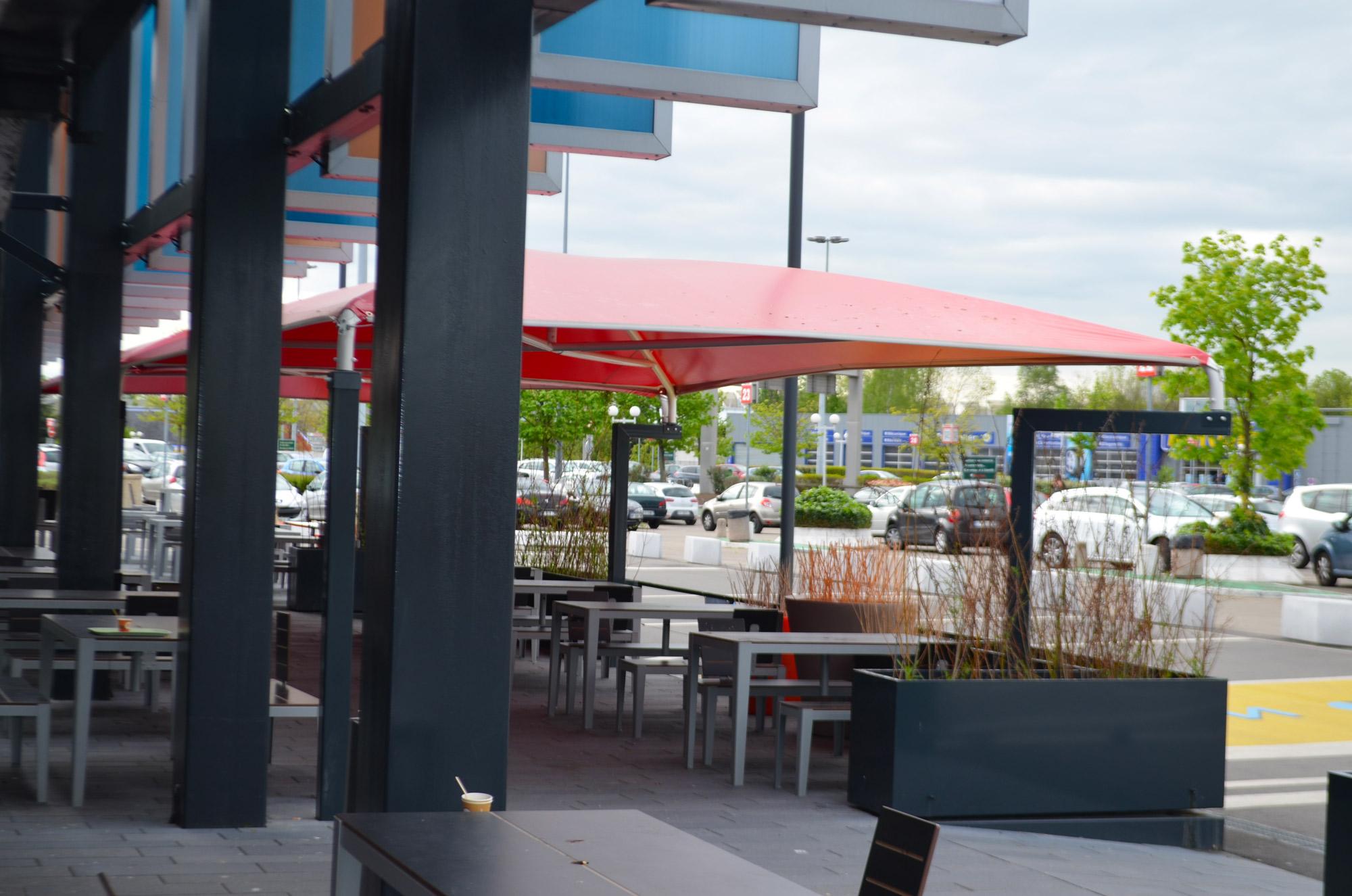Abri Pour Terrasse Restaurant Flunch De Saint Priest Texabri