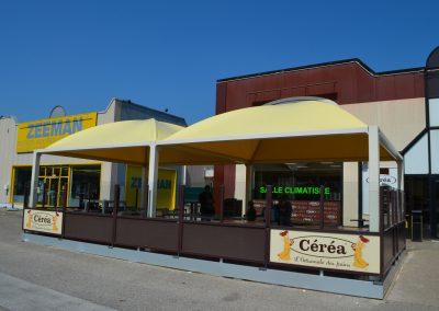 Texabri, Abri pour terrasse, boulangerie Céréa Bourg en Bresse