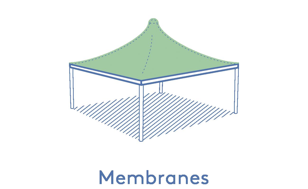 Texabri-membranes de l'abri Cygnus