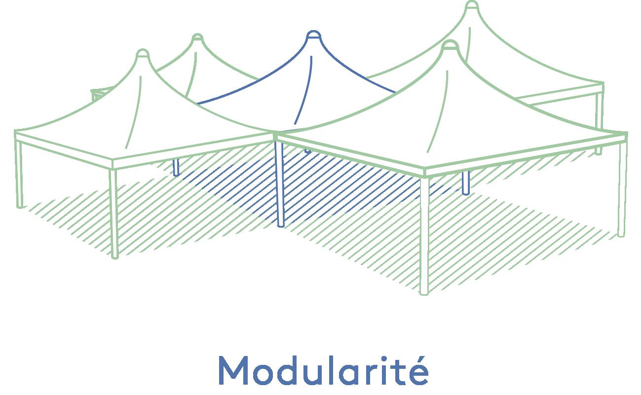 Texabri-modularité de l'abri Cygnus