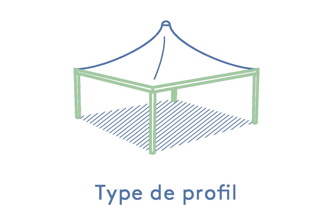 Texabri-type de profil de l'abri Cygnus