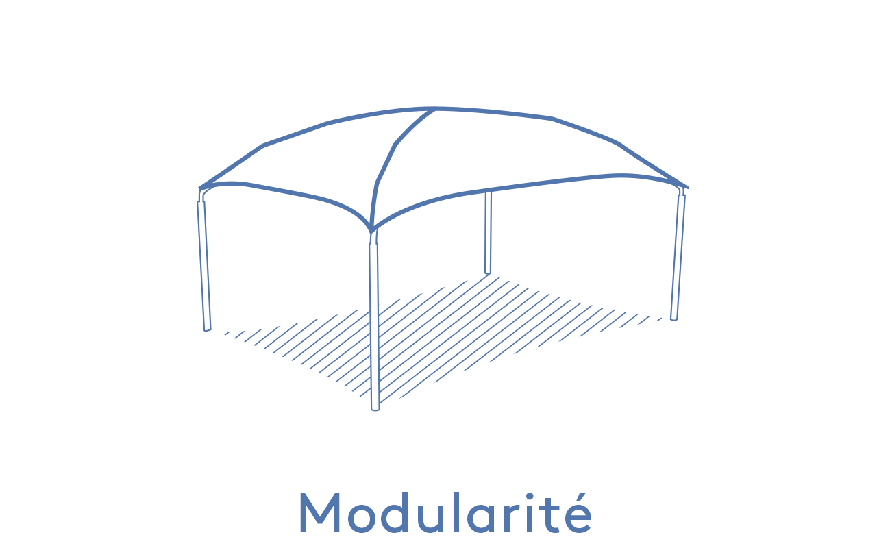 Texabri-modularité de l'abri Pyxis