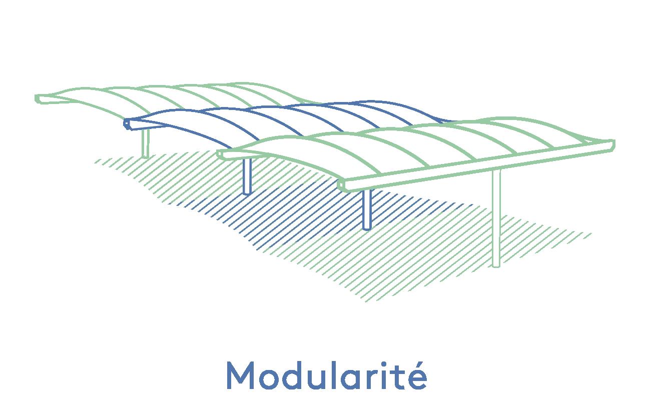 Texabri-modularité de l'abri Volans