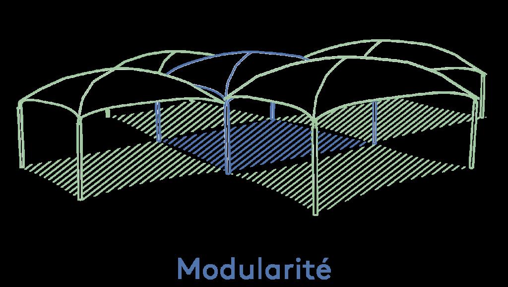 Texabri - modularité de l'abri Pyxis
